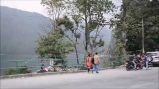 Walk through tourist district along phewa lake in Pokhara, Nepal