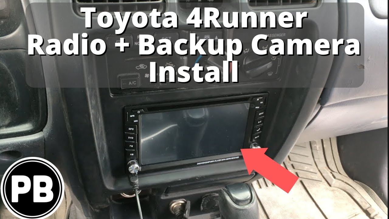 maxresdefault 1996 2002 toyota 4runner stereo install and backup camera youtube Wire Harness Assembly at readyjetset.co