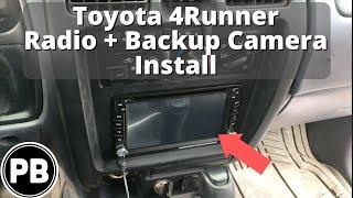 1996 2002 toyota 4runner stereo install and backup camera