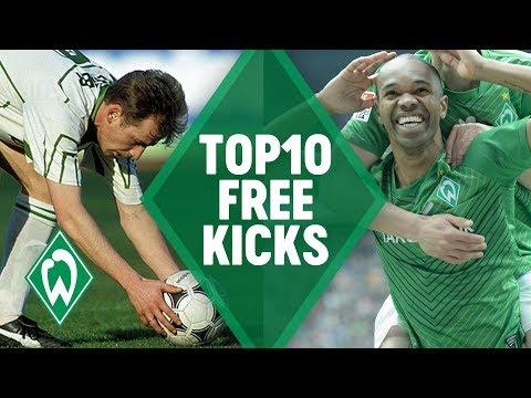 TOP 10 AMAZING FREE KICK GOALS | SV Werder Bremen