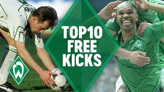 TOP 10 AMAZING FREE KICK GOALS | SV Werder Bremen