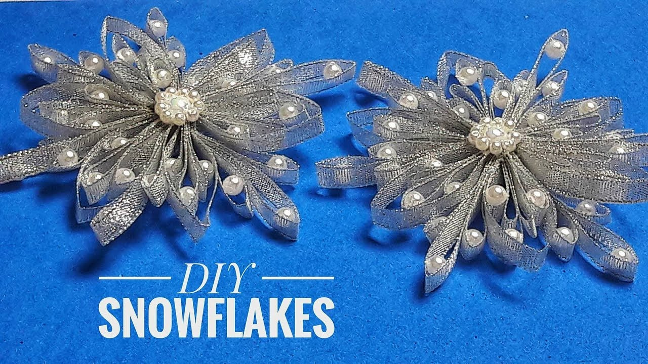 How To Make Silver Snowflake For New Year Tree Decoration