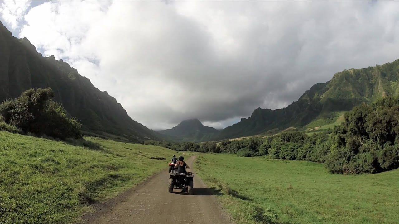 Kualoa Ranch Atv Tour Oahu  Hi 2014 Gopro