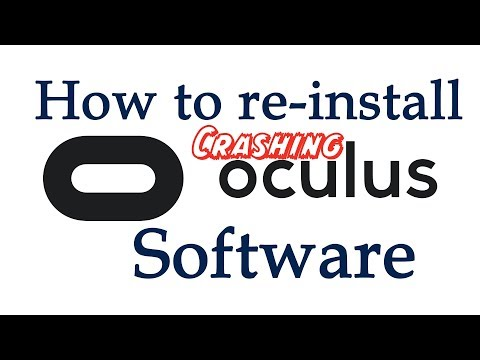 How to re-install Crashing Oculus software - YouTube