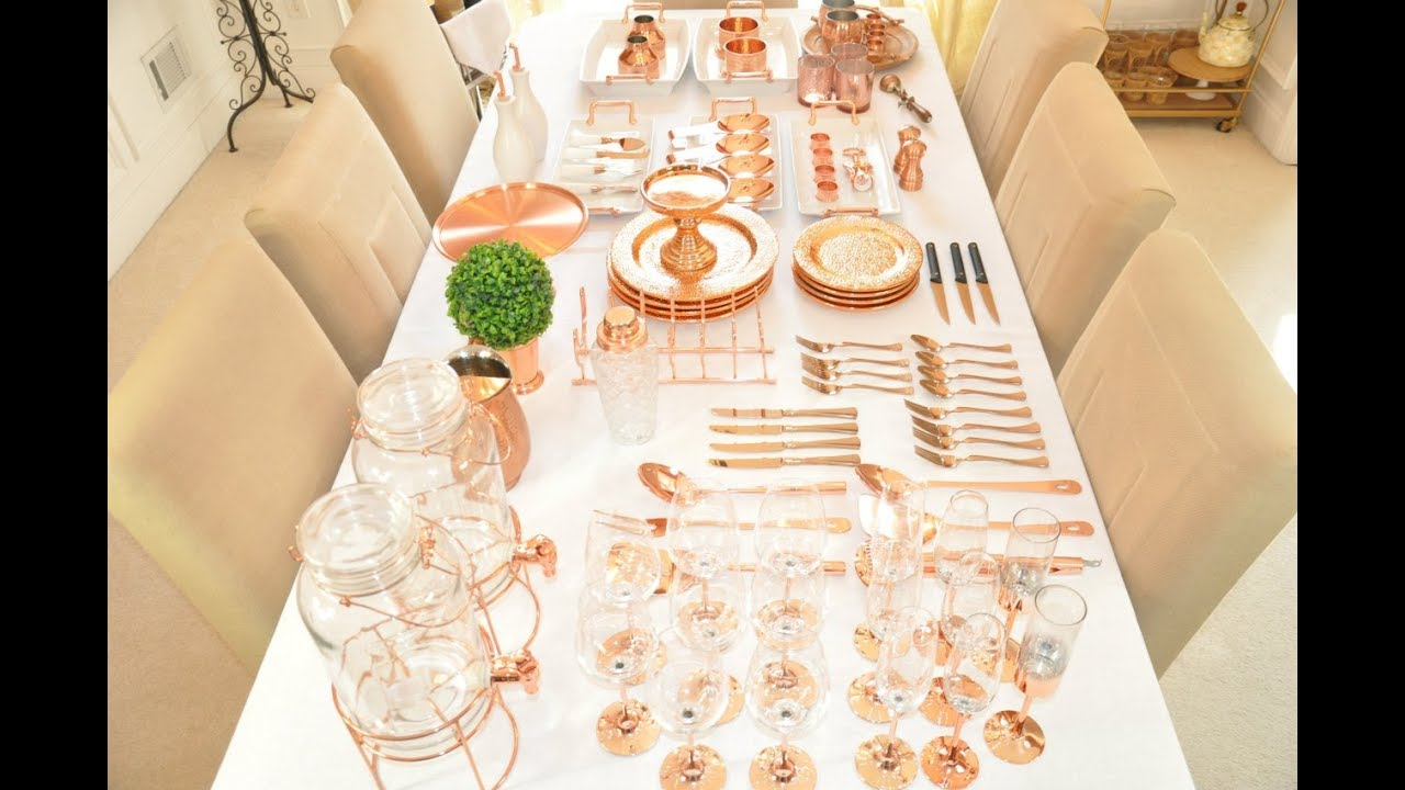 New Huge Glam Home Decor Haul Rose Gold Copper How To Build An Entertaining Collection
