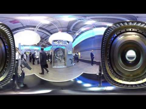 360 Grad Video: MTU-Messestand - ILA 2016 / Seen through a 360-degree camera: MTUs ILA 2016 booth