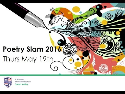 St. Andrews International School Green Valley || Poetry Slam 2016