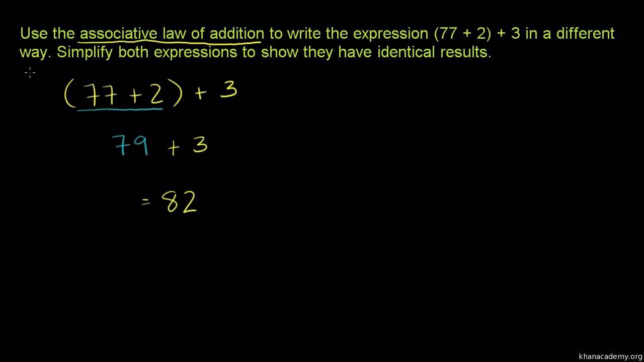 Den associative lov - addition
