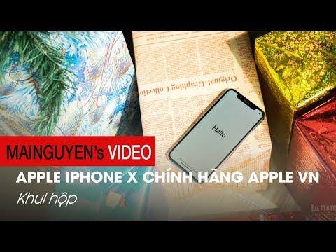 Khui hộp iPhone X chính hãng: Giá từ 29.99 triệu, Apple Việt Nam bảo hành - www.mainguyen.vn