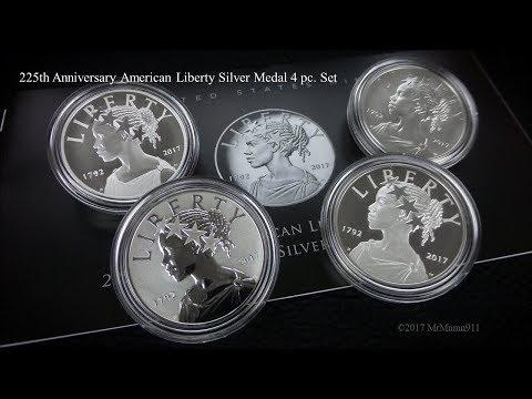 225th Anniversary American Liberty Silver Medal 4 pc. Set