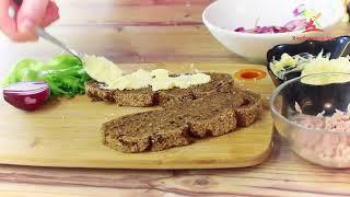 Сэндвич с тунцом. Просто Вкусно Рецепты от Хлебозавода №1