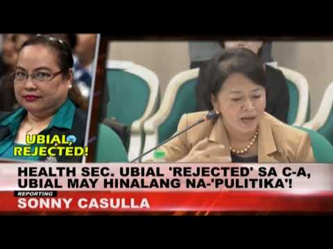 DOH SEC. UBIAL NI-REJECT NG COMMISSION ON APPOINTMENT