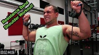 Intense 5 Minute Resistance Band Shoulder Workout