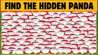Only genius can find the panda  Can you spot the hidden panda? 10 Find The Hidden Panda Puzzles 2