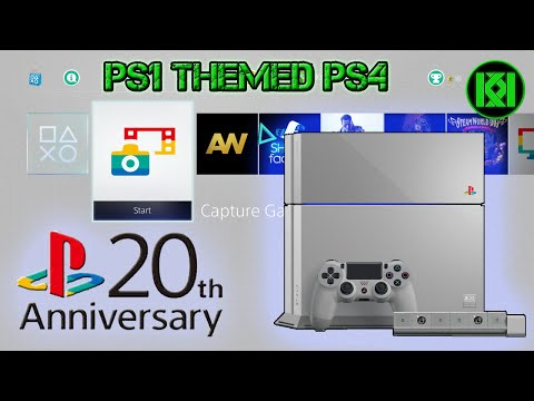 PS1 Theme On PS4: New PS1 Styled PS4 Console: PlayStation 20th Anniversary