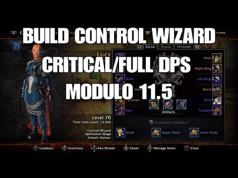 Neverwinter PS4 -Build Control Wizard Critical/Full DPS (PT-BR)