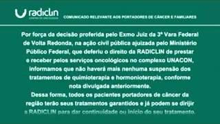 Comunicado Radiclin - Quimioterapia pelo SUS 2