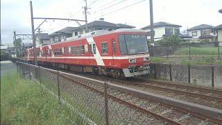 [38年間ありがとう!!1001F運用離脱…]遠州鉄道1000形1001F 普通新浜松行 岩水寺駅到着
