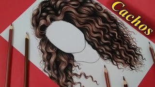 Como Desenhar Cachos /  How to draw curly hair