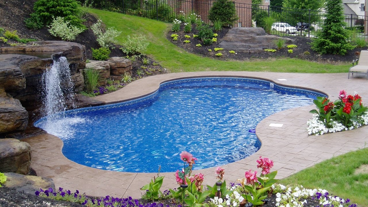 Inground Swimming Pools For Small Yards Design Youtube