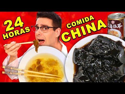 24 HORAS COMIENDO COMIDA CHINA ENLATADA RETO El Gallinero De Mike
