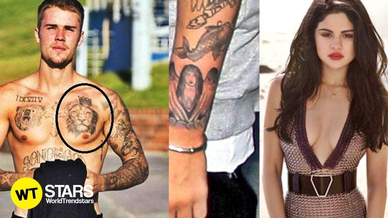 Justin Bieber Tatto Collection Selena Gomez Tatto 2018 Youtube