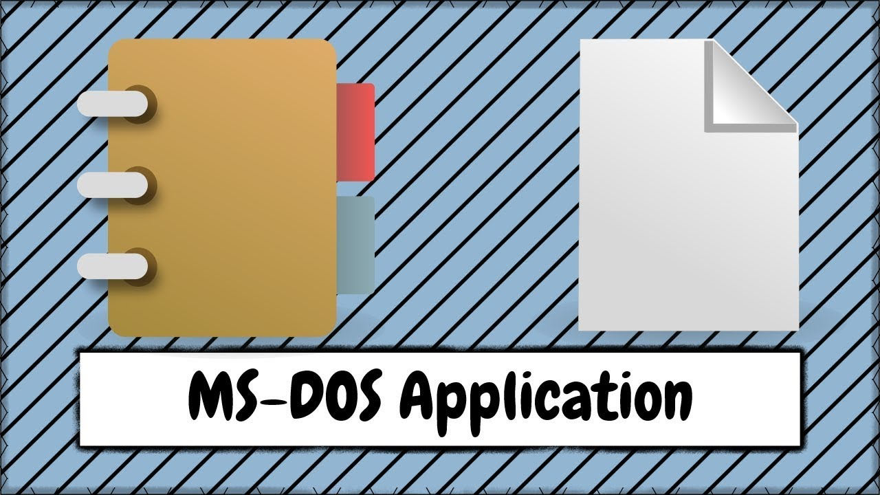 How to Open a MS DOS Application After Saving a File in WordPad or Notepad