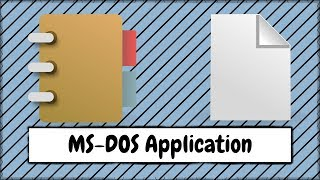 How to Open a MS DOS Application After Saving a File in WordPad or Notepad Video