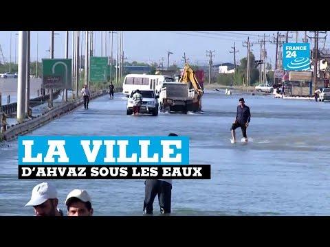 La ville d'Ahvaz sous les eaux en IRAN