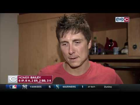 Homer Bailey offers simple postgame accounting for why Reds lost to Marlins