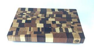 chaotic end grain cutting board - Schneidbrett Kopfholz - chaotisch - DIY - Helmchen