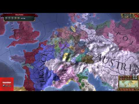 Forming The Holy Roman Empire Before 1650!! Europa Universalis 4 Timelapse