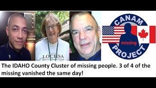 The Idaho County, ID Cluster. Three People Vanished on the same day, miles apart and are never found