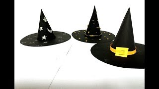 How To Make A Witch's Hat With Paper on the Halloween   Easy Diy craft Halloween   Art For Kids