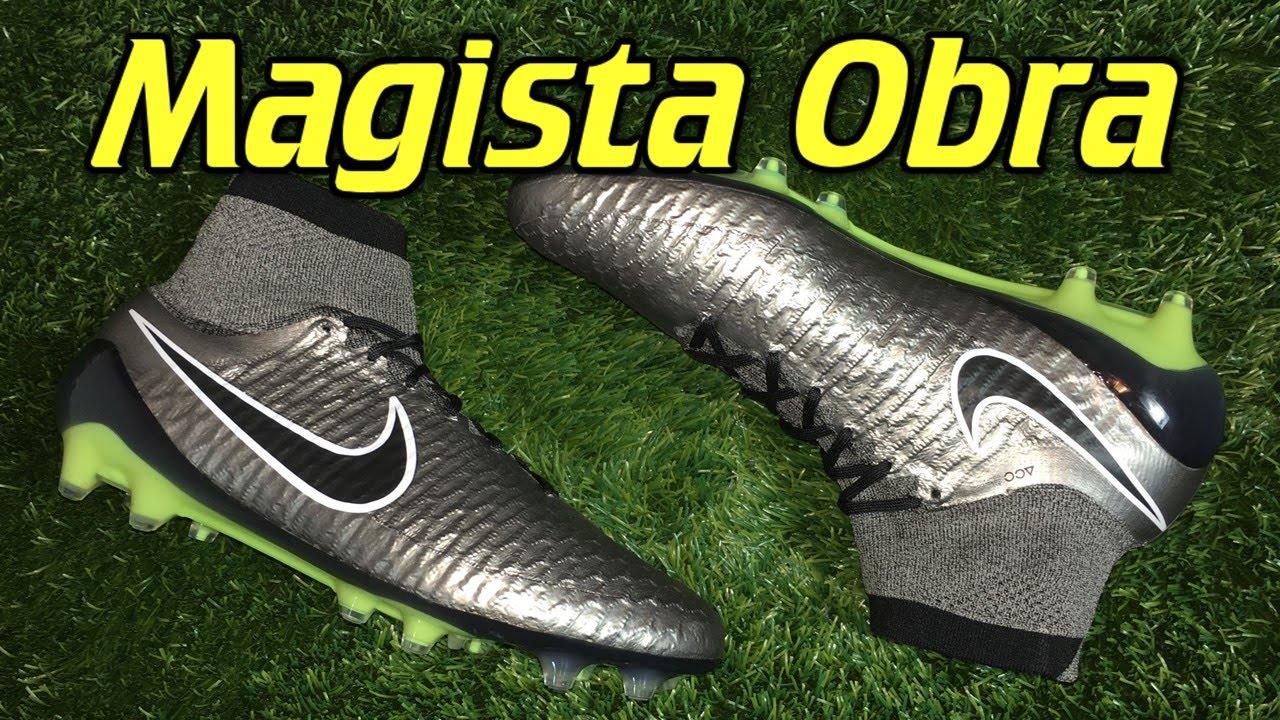 timeless design 384a5 d56bb Nike Magista Obra (Liquid Chrome Pack) Metallic Pewter - Review + On Feet -  YouTube
