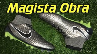 Nike magista obra (liquid chrome pack) metallic pewter - review + on feet