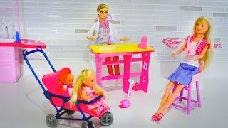 Кукла Штеффи и дети у Барби на приеме. Игры для детей