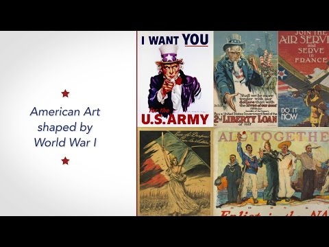 American Art Shaped by World War I