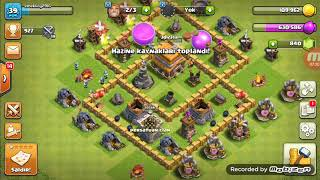 Clash of Clans klan savaşı ve belediye binasını yükselttik