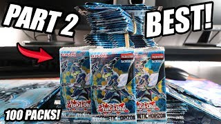 Yu-Gi-Oh! BEST! 100 PACKS OF CYBERNETIC HORIZON SNEAK PEEK OPENING TCG! JULY 2018! INSANE! (Part 2)