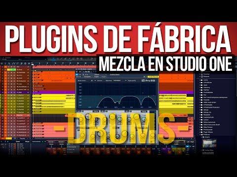 Como mezclar con los plugins de fábrica (Drums) | Studio One