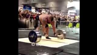Эд Холл, становая тяга  -  462 кг (без ремня) на Арнольде в Австралии!