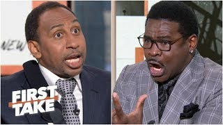 Stephen A. and Michael Irvin get heated about Zeke's contract holdout with the Cowboys | First Take