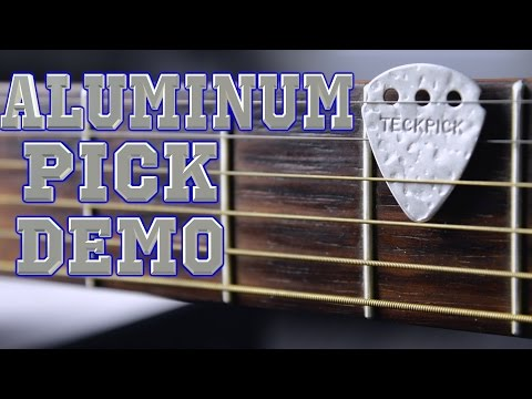 Aluminum Guitar Pick Demo