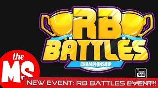 Roblox: New RB Battles Event!!