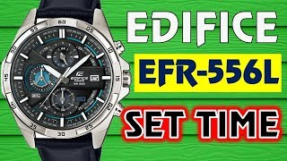 Casio Edifice EFR 556L-1A SET TIME AND DATE