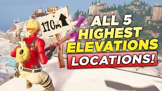 """Visit the 5 Highest Elevations on the Island"" ALL LOCATIONS! Fortnite Challenge Week 6 Season 8"