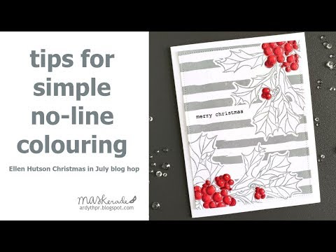Christmas In July Coloring.Maskerade Tips For Simple No Line Colouring Ellen Hutson