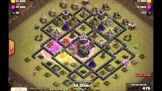 Clash Of Clans - 9 KB Kraliçe Yürüyüşü GoHo 3 Yıldız - Th9 Queen Walk GoHo | 3 Star Strategy
