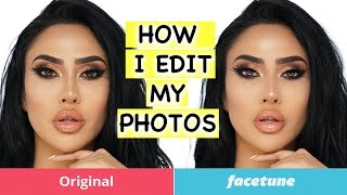 HOW TO EDIT PICTURES USING FACETUNE | BrittanyBearMakeup